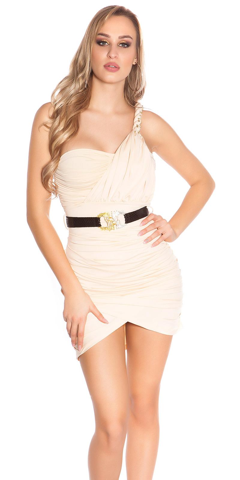 Rochie mini Sexy One-Arm-cu curea