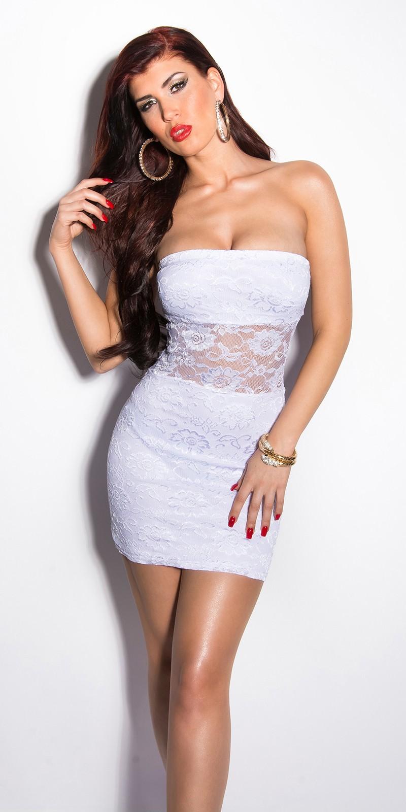 Rochie mini Sexy umeri goi-dantela-