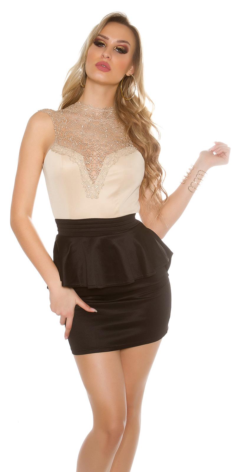 Rochie mini sexy cu dantela on chest