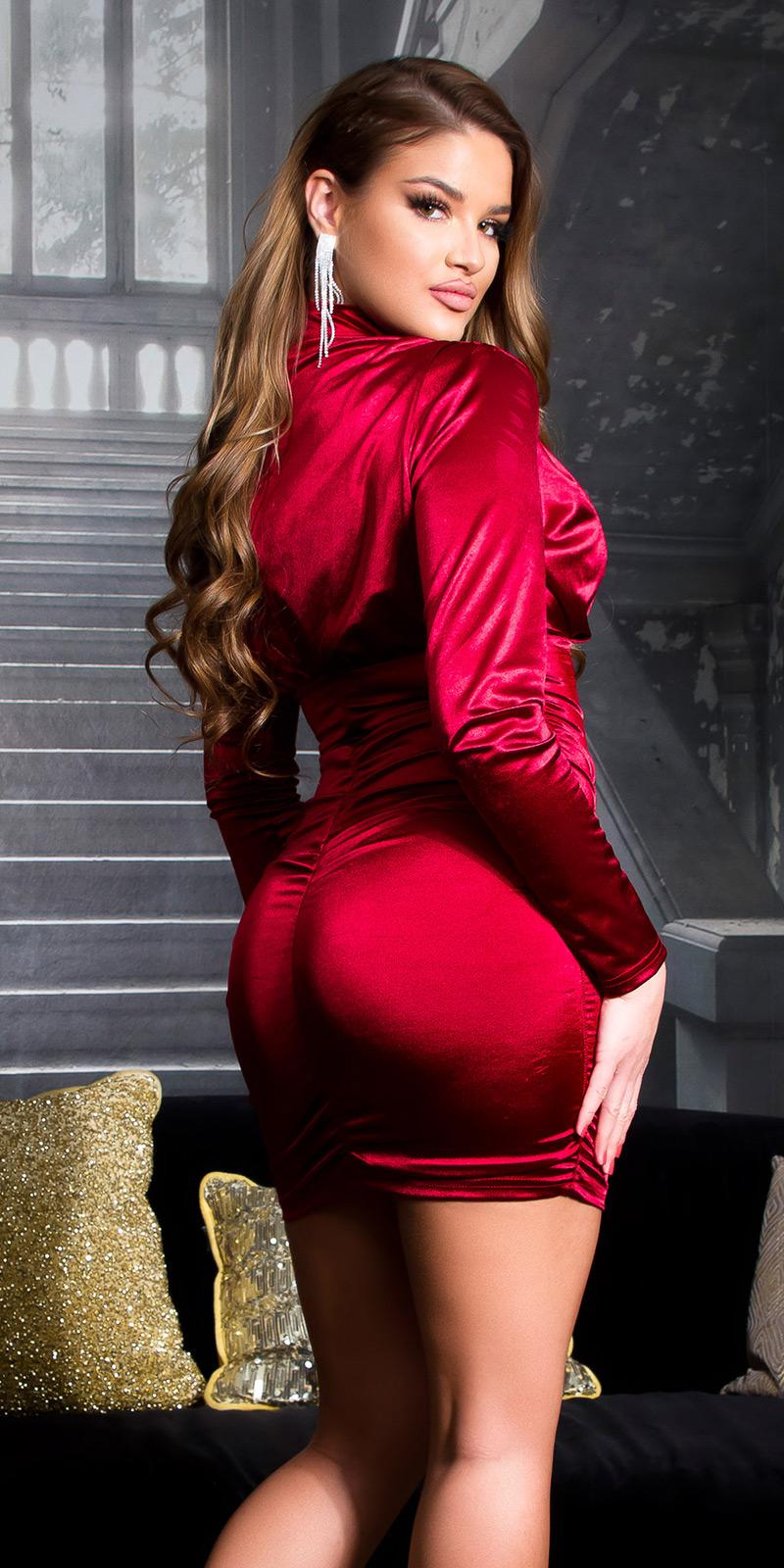 Rochie mini sexy tip satin cu incretituri