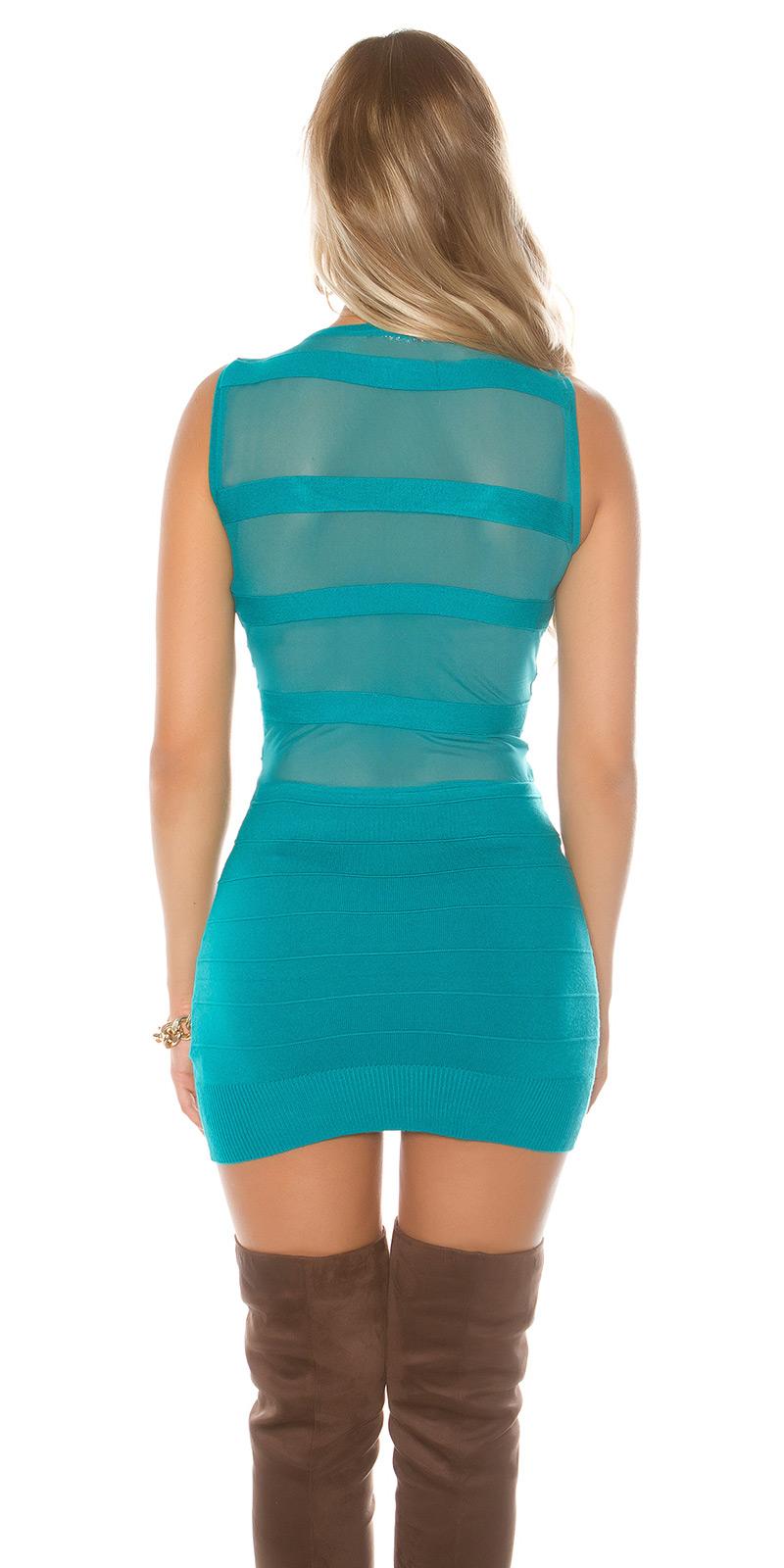 Rochie mini sexy tricot fin-cu strasuri