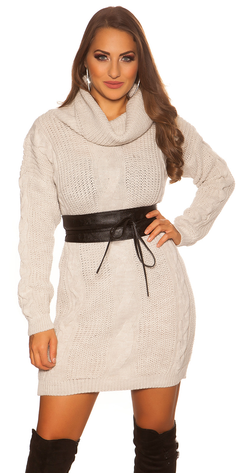 Rochii Helanca la moda tricot cable stit