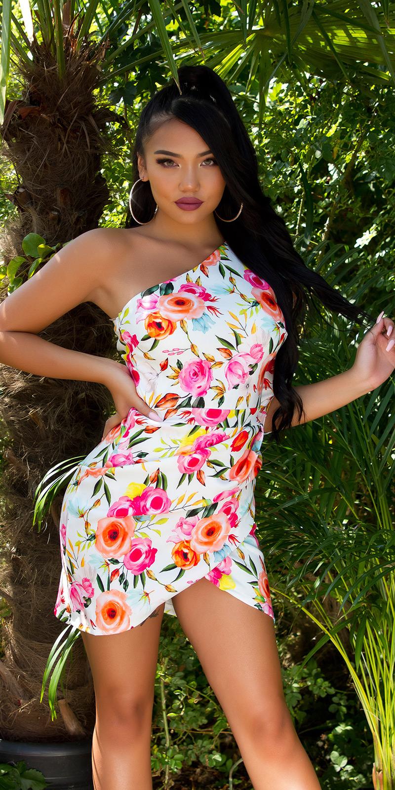 Rochii Sexy cu umar gol cu imprimeu floral