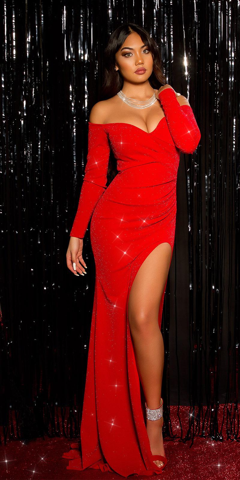 Rochii de seara sexy model elegant Look cu sclipici evening
