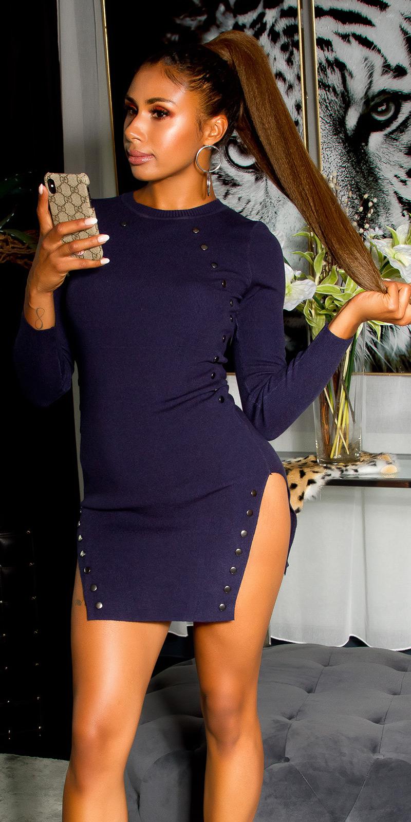 Rochii mini Sexy tricot cu side splits