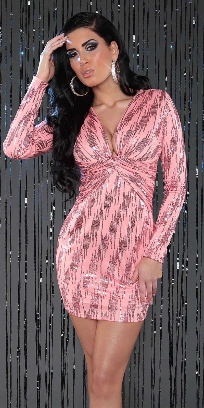 Rochii mini de club Sexy cu decolteu adanc si paiete