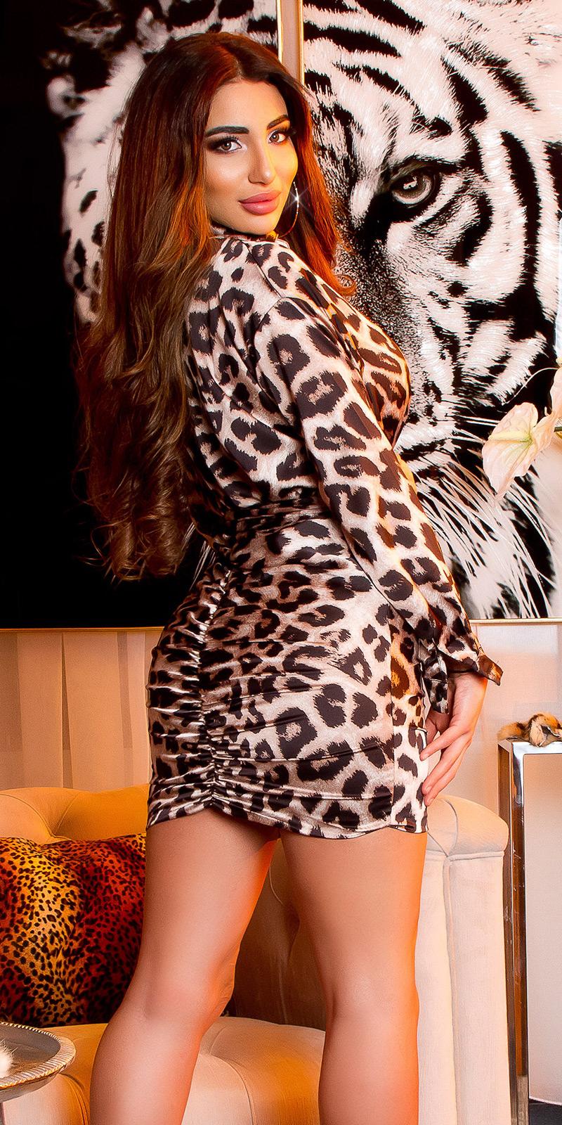 Rochii mini sexy tip satin maneca lunga