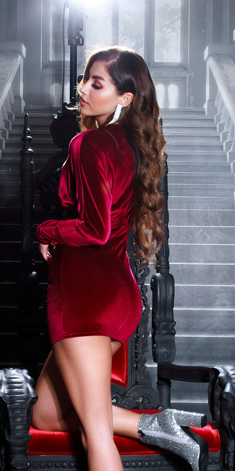 Rochii sexy Velvet cu fermoar