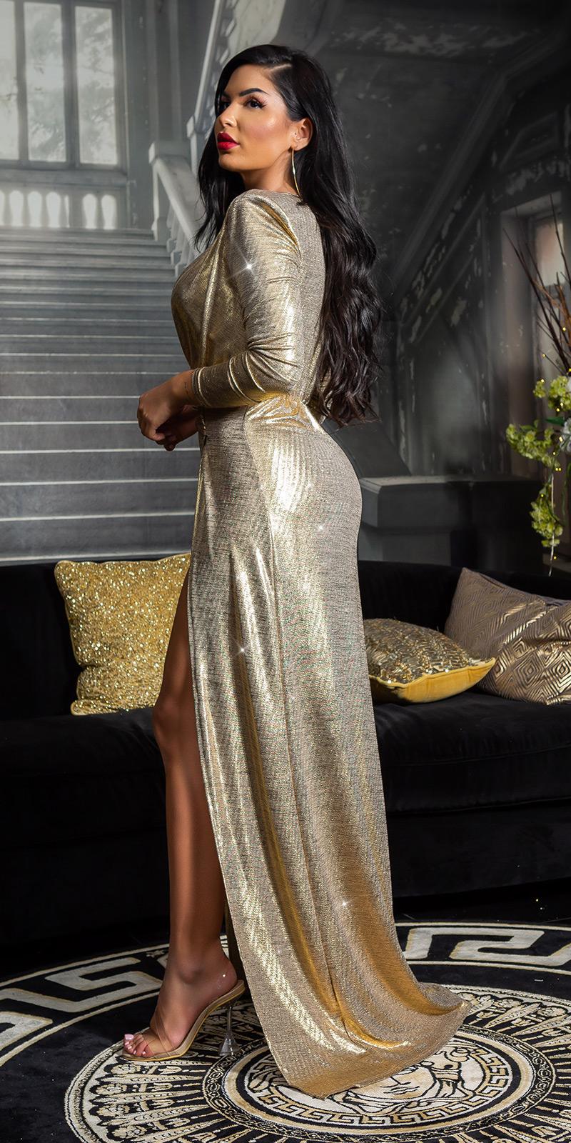 Rochii sexy auriu GIRL RedCarpet