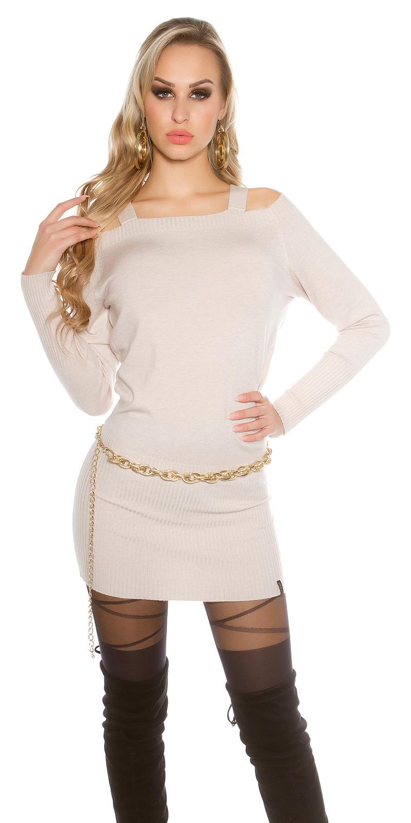Rochii Pulover lung sexy tricot / carmen decolteu