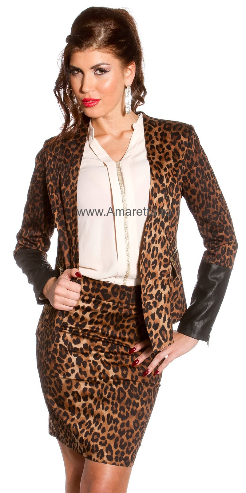 Sacouri sexy fitted in animal imprimeu