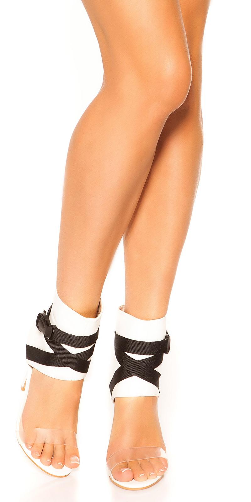 Sandale Sexy Ankle cu toc Stiletto