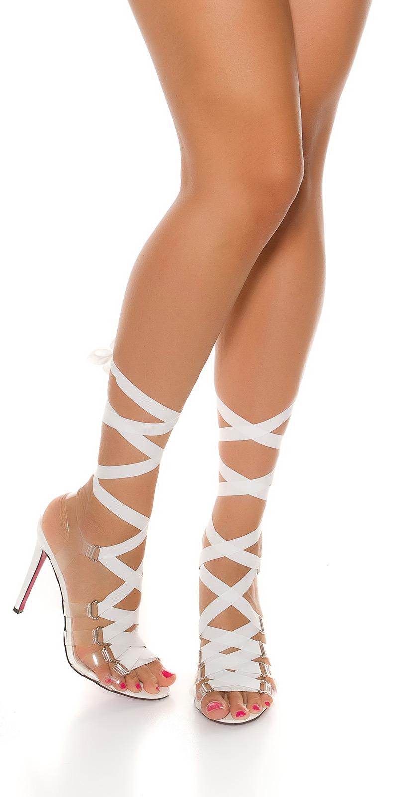 Sandale Sexy Bondage cu toc