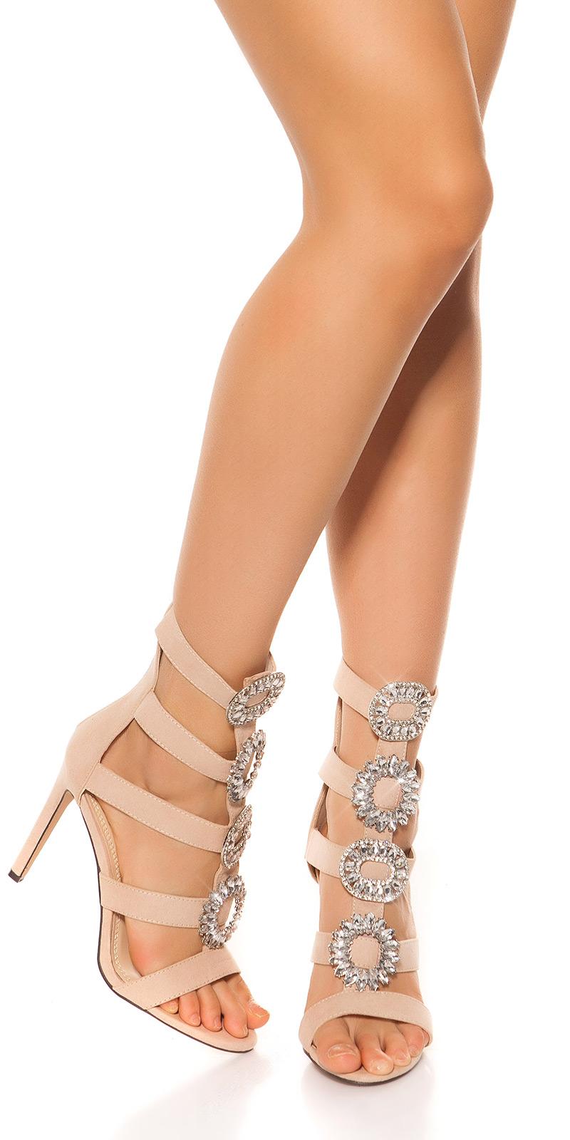 Sandale Sexy Highheel cu XL strasuri