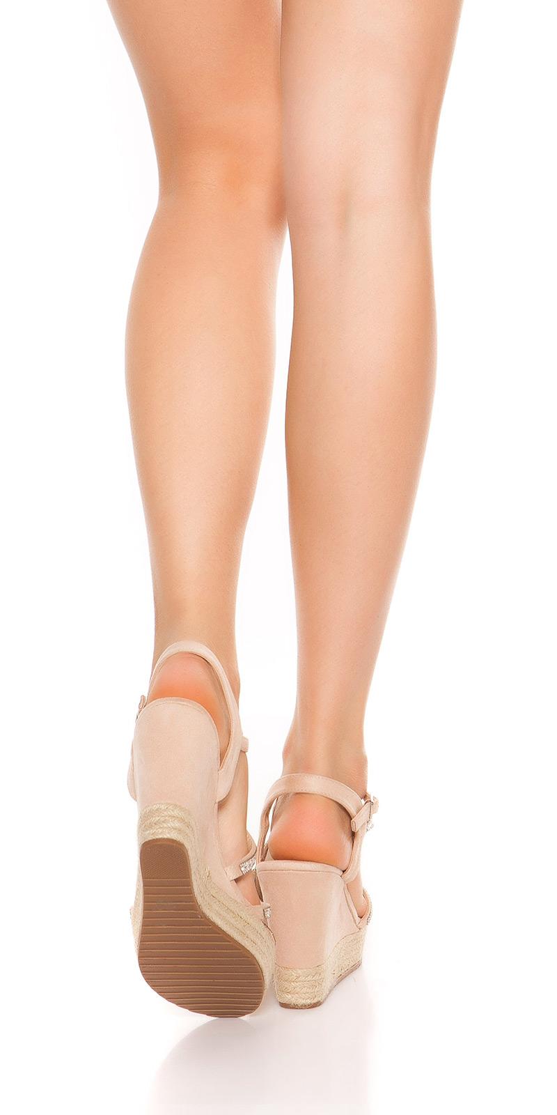 Sandale Sexy cu platforma heel cu strasuri