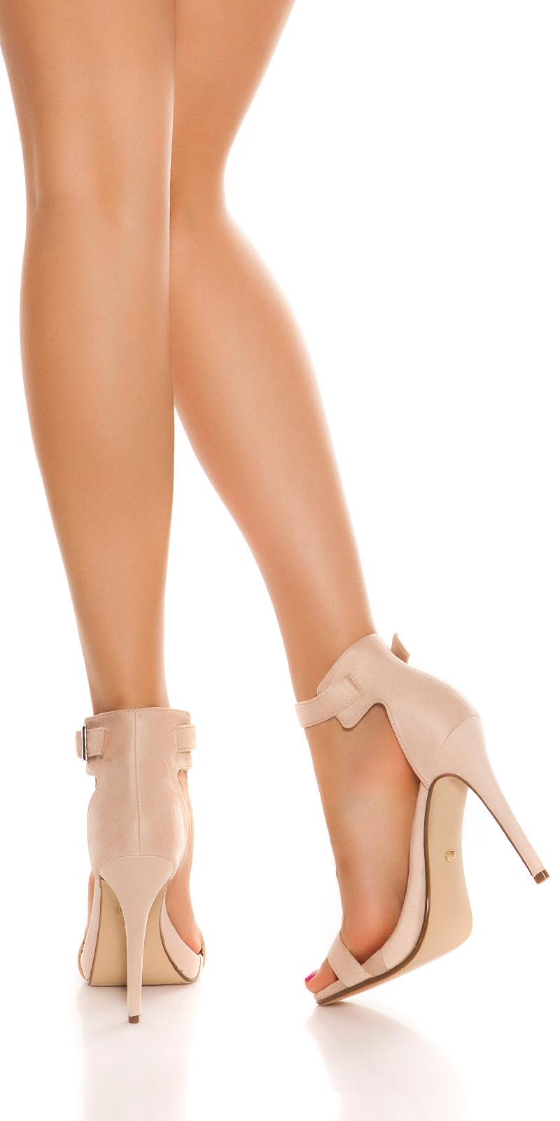 Sandale Sexy cu toc cu bretele