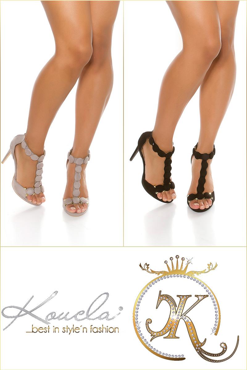 Sandale Sexy cu toc cu tinte