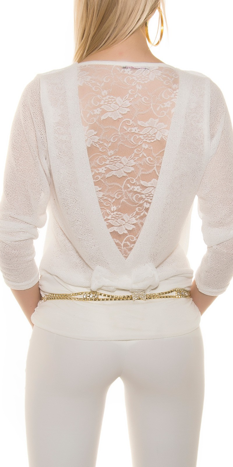 Bluze fashion dama cu dantela pe spate