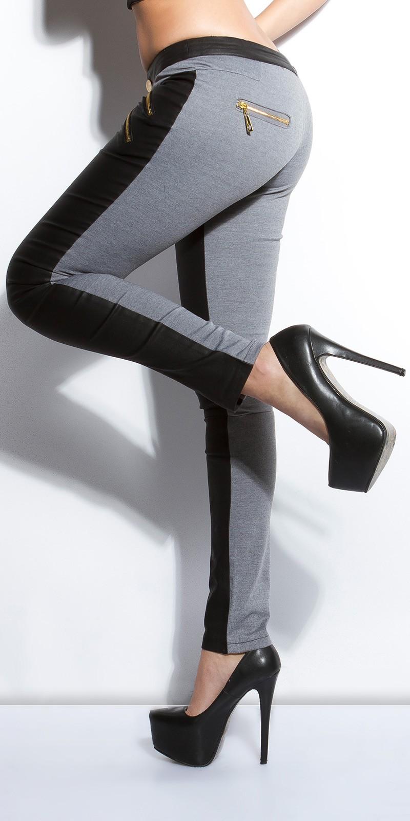 Pantaloni eleganti sexy cu fermoar