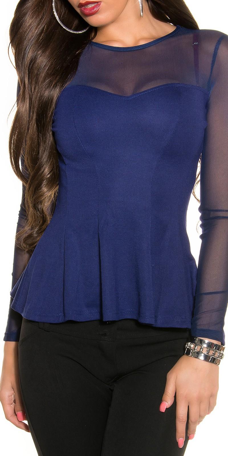 Bluze de ocazie dama transparent cu volanase