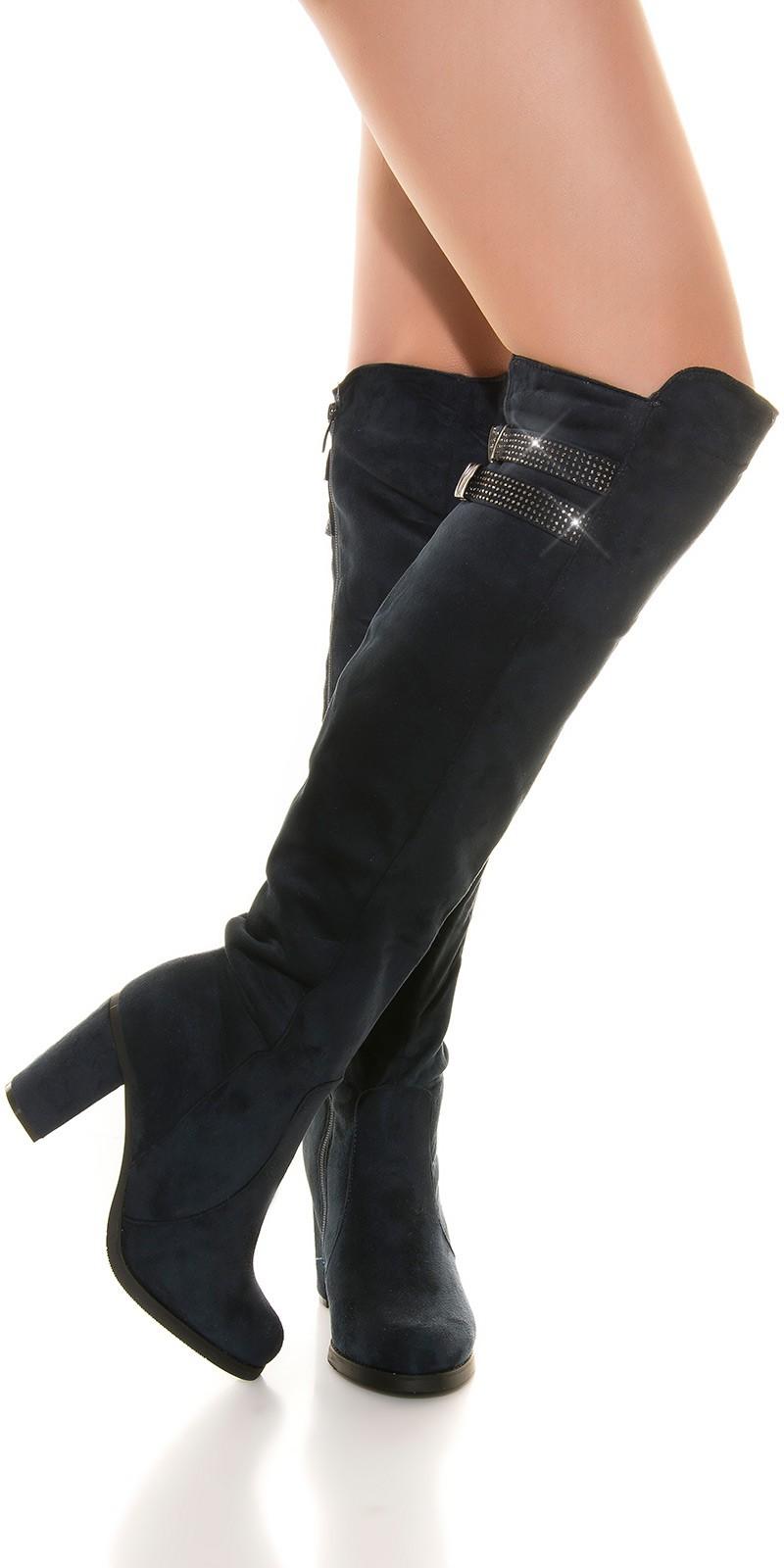Sexy boot cu sclipici catarama
