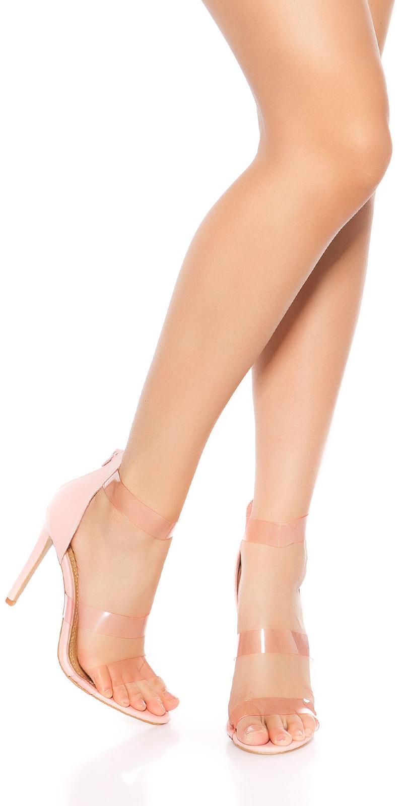Sexy cu toc Sandaletten m. Plastikriemchen