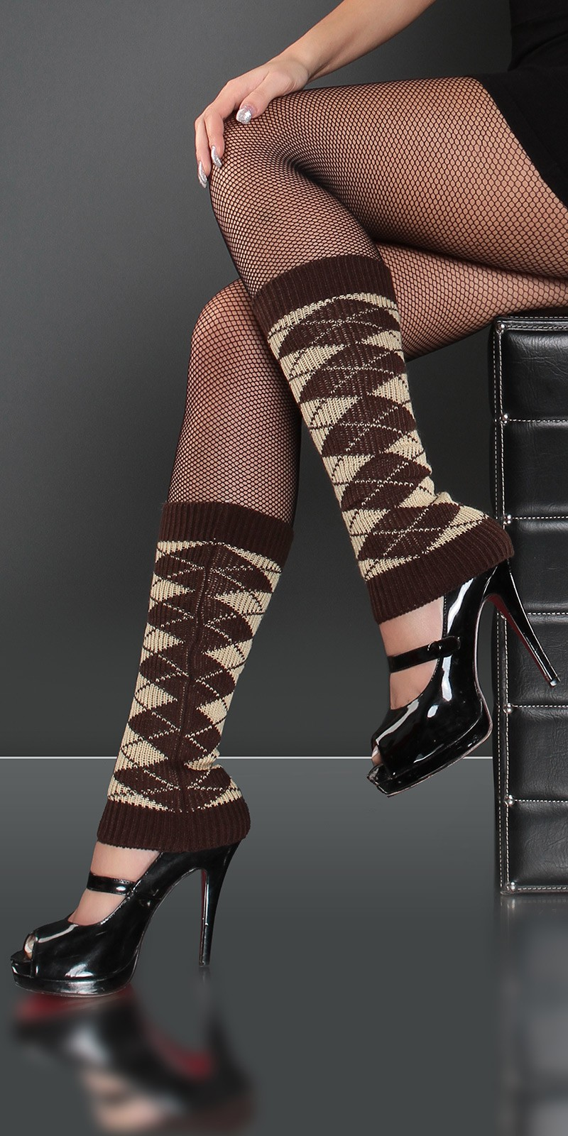 Jambiere dama Sexy in Argyle-Look