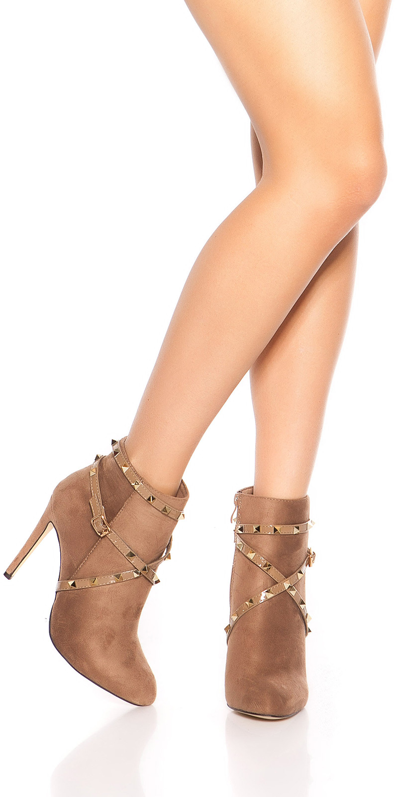 Tocuri inalte Sexy Ankle cu catarama+ fermoar