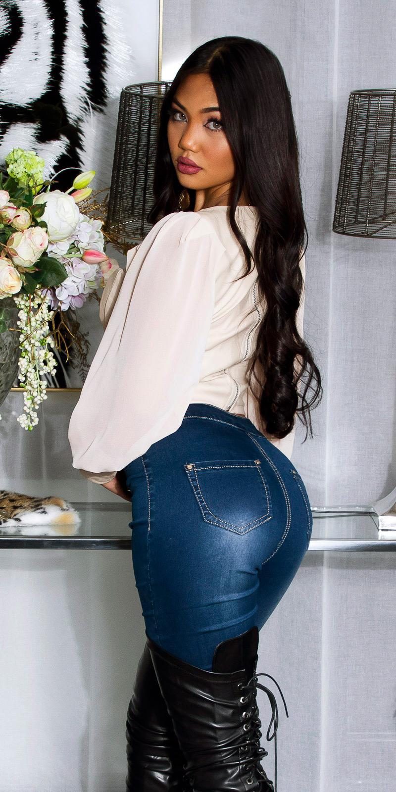 Top piele ecologica sexy maneca lunga