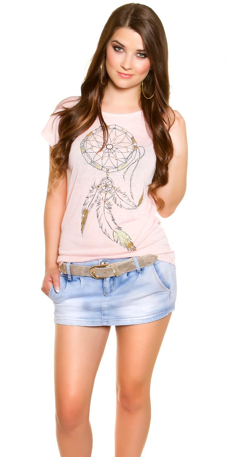 la moda Shirt cu dreamcatcher imprimeu