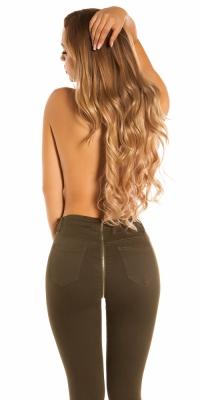 Blugi skinny Sexy cu fermoar la spate