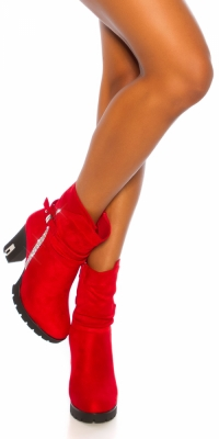 Botine Sexy Block Heel cu sclipici Rivets