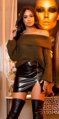 Helanca Pulovere la moda XL coarse cord