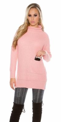 Helanca Pulovere sexy model gros tricot cubuzunare