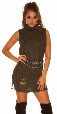 Helanca Rochie mini Pulover lung la moda tricot minidress/