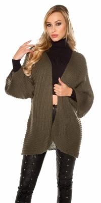 Jachete dama la moda XXL loose tricot