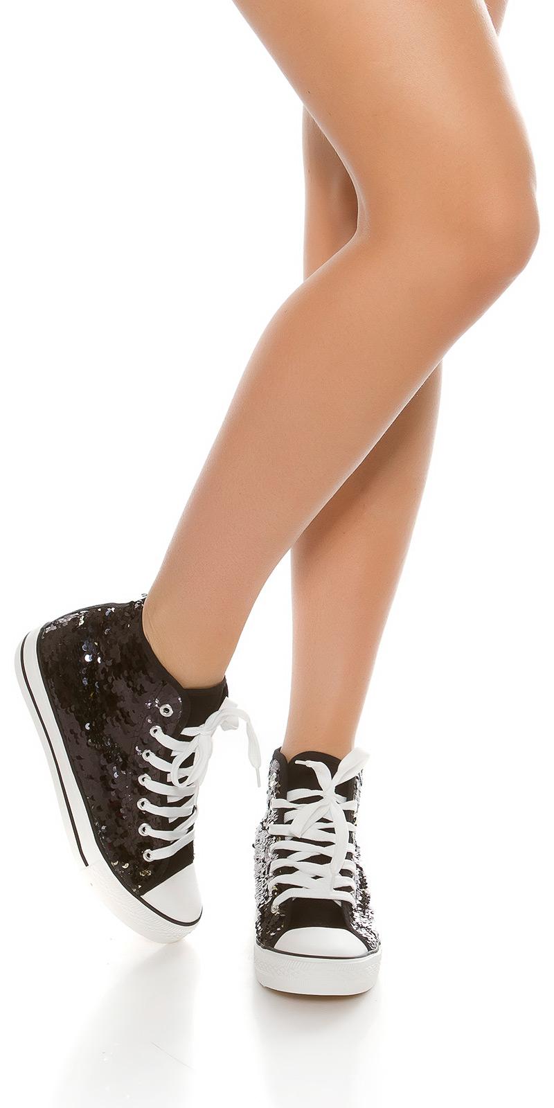 Adidasi la moda paiete care isi schimba culoarea tip Converse