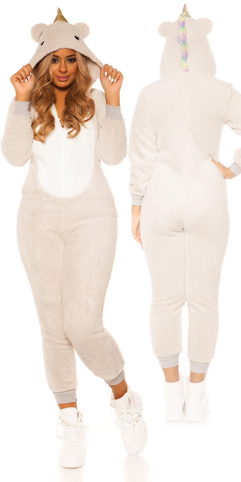 la moda pufos unicorn onesie