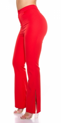 Pantaloni evazati Sexy Classic cu Side Slit