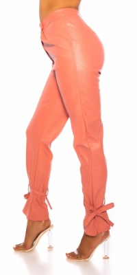 Pantaloni la moda talie inalta Leder- Look