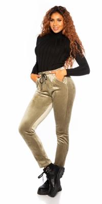 Pantaloni la moda Velvet /Thermo