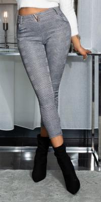 Pantaloni Sexy Enge Karo cu V catarama