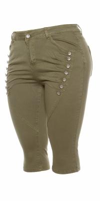 Pantaloni trei sferturi Blugi Curvy Girls Size la moda knee-length