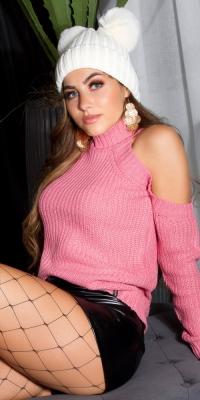 Pulover sexy umerii goi tricot
