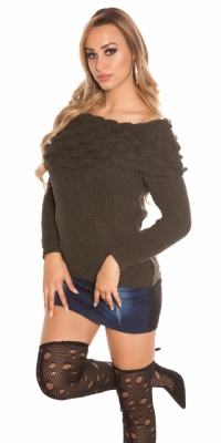 Pulovere la moda rough tricot w. XL guler