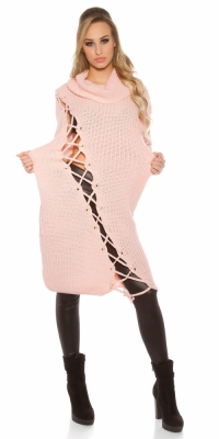 Rochii la moda model gros tricot cu XL guler
