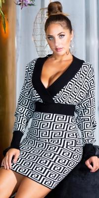 Rochii Sexy Fitted cu decolteu in v tricot