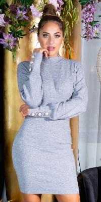 Rochii Sexy Fitted tricot cu Stand Up guler