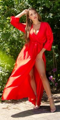 Rochii Sexy Satin Maxi model petrecut-around Look