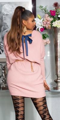 Rochii Sexy supradimensionat tricot cu Ribbon care se leaga